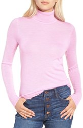 J.Crew Women's Featherweight Cashmere Turtleneck Heather Orchid