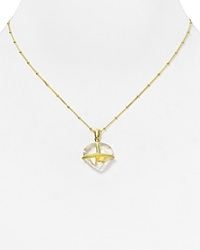 Coralia Leets Cage Pendant Necklace 16 Gold