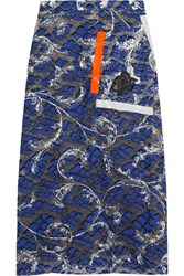 Christopher Kane Sequined Lace And Mesh Skirt Navy