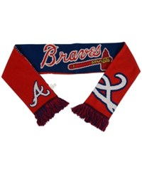 Forever Collectibles Atlanta Braves Reversible Split Logo Scarf Navy