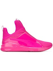 Puma Slip On Sneakers Pink And Purple