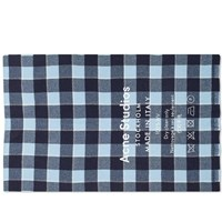 Acne Studios Cassiar Check Scarf Blue