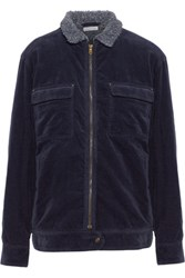 Tomas Maier Cotton Blend Corduroy Jacket Midnight Blue