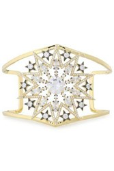 Noir Jewelry Woman Gold Tone Crystal Cuff Gold