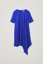 Cos Asymmetric Short Sleeved Dress Blue
