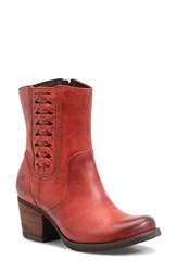 Brn Women's B Rn Orosi Western Block Heel Boot Rojo Leather