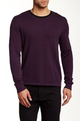 Kenneth Cole Contrast Trim Sweater Red
