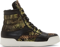 Balmain Green Jungle Kol High Top Sneakers