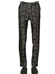 Etro Viscose And Silk Jacquard Tailored Pants