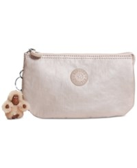 Kipling Creativity Metallic Small Pouch Sparkly Gold