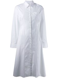 Each X Other Fitted Poplin Shirt Dress White