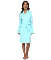 Lauren Ralph Lauren Essentials Quilted Collar And Cuff Robe Garden Turquoise Women's Robe Blue