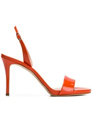 Giuseppe Zanotti Design Sofia Slingback Sandals Orange