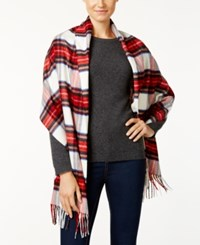 Charter Club Tartan Plaid Cashmink Blanket Scarf Only At Macy's Ivory