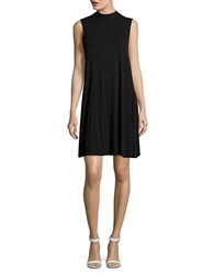 Lord And Taylor Mock Neck Swing Dress Black