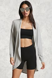 Forever 21 Ribbed Dolman Cardigan Heather Grey