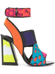 Kat Maconie Wendy Colour Block Sandals Black