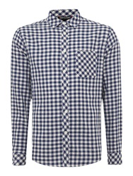 Army And Navy Barrow Long Sleeved Gingham Navy