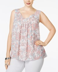 Jessica Simpson Plus Size Sleeveless V Neck Top Pastel Pink
