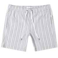 Onia Charles 7 Stripe Swim Short Grey