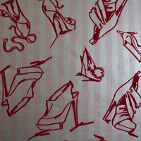 Graham And Brown Shoes Wallpaper Sample Swatch
