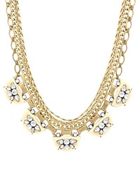 Sparkling Sage Layered Chain And Embellishment Crescent Necklace Compare At 147 Gold Cream