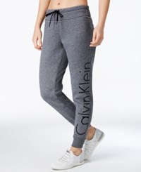 Calvin Klein Performance Fleece Sweatpants Blk Heathe