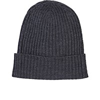 Barneys New York Men's Rib Knit Beanie Dark Grey