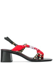 Ash Iconic Block Heel Sandals Red