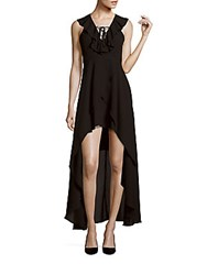 Romeo And Juliet Couture Sleeveless Hi Lo Dress Black
