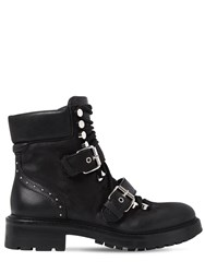 Elena Iachi 30Mm Studded Leather Combat Boots Black