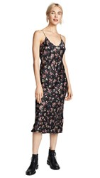 Cami Nyc Raven Dress Dark Rose Print