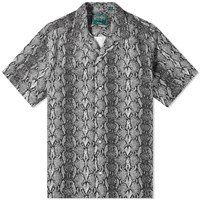 Gitman Brothers Vintage Camp Collar Snakeskin Shirt Brown
