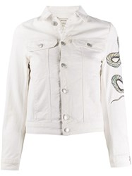 Zadig And Voltaire Kioky Snake Embroidered Detail Jacket 60