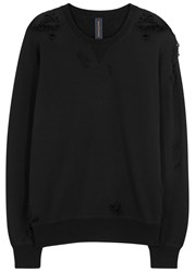 Miharayasuhiro Black Distressed Cotton Sweatshirt