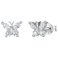 Jools By Jenny Brown Butterfly Stud Earrings