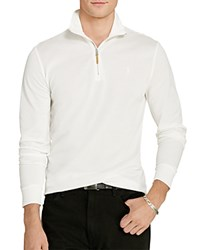 Polo Ralph Lauren Cotton Mesh Half Zip Pullover Shirt White