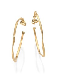 Marco Bicego Marrakech 18K Yellow Gold Twisted Hoop Earrings 2