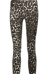 Norma Kamali Printed Stretch Jersey Leggings Leopard Print