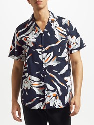 Samsoe And Samsoe Einar Sx Short Sleeve Floral Shirt Nachtblumen