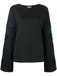 Marni Utility Long Sleeve Top Blue