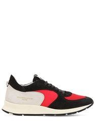 Philippe Model Montecarlo Leather Sneakers Black Red