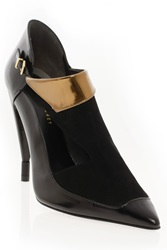 Roland Mouret Romantic Cutout Boot With Gold
