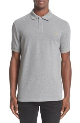 Paul Smith Men's Ps Zebra Patch Polo Grey