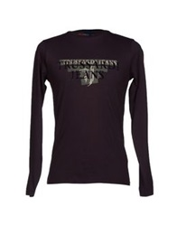 Trussardi Jeans T Shirts Deep Purple