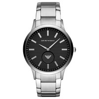 Emporio Armani 'S Textured Dial Bracelet Strap Watch Silver Black Ar11118