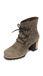 Sorel Addington Lace Up Booties Dark Fog