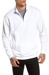 Obey Atomatic Quarter Zip Fleece Pullover White