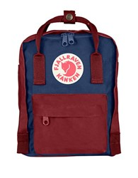 Fjall Raven Mini Backpack Ox Red Royal Blue