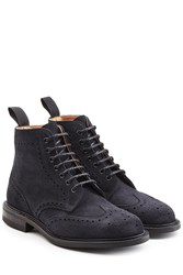 Churchs Suede Ankle Boots Blue